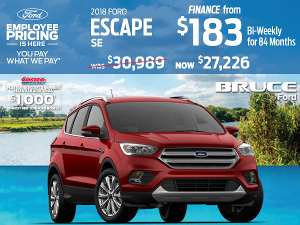 Save up to $3,763 on the 2018 Ford Escape SE