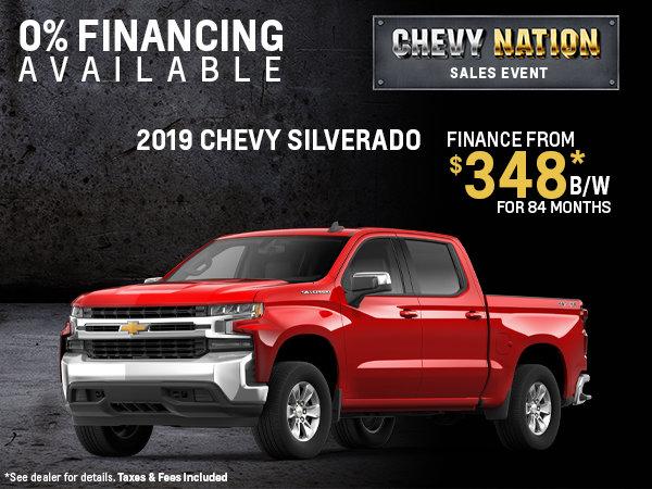 Finance the 2019 Chevy Silverado
