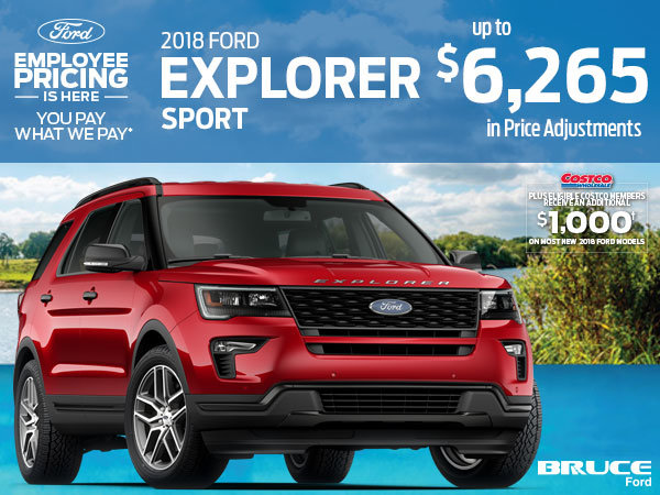 Save up to $6,265 on the 2018 Ford Explorer Sport