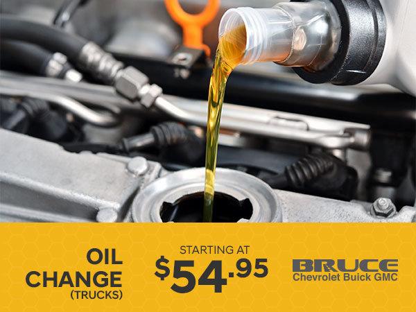 Oil Change for Trucks from $54.95