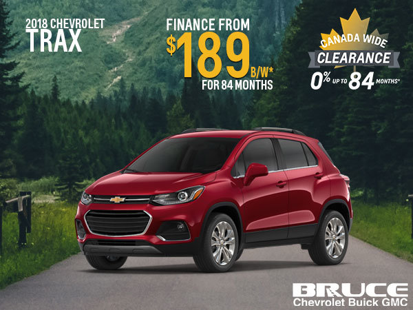 Finance the 2018 Chevrolet Trax