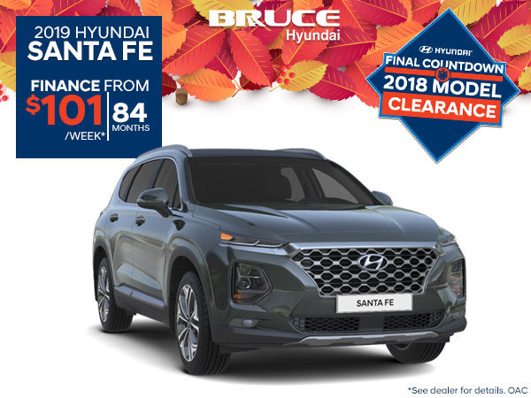 Finance the all-new 2019 Santa Fe