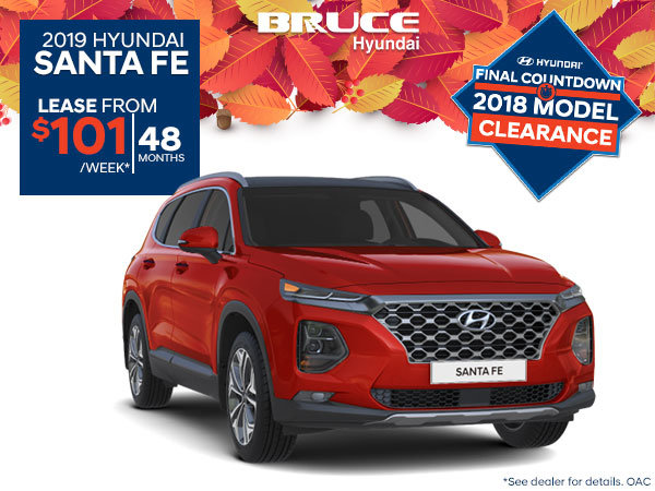 Lease The All New 2019 Santa Fe