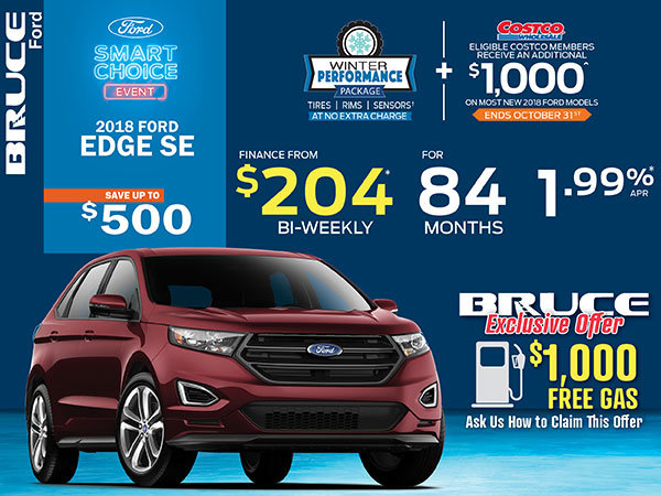 Finance the 2018 Ford Edge SE for Just $204 Bi-Weekly