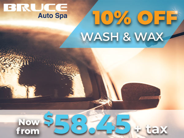 Save 10% on Wash & Wax Service until January 31