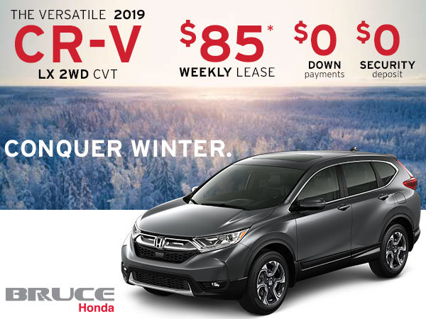 Lease the 2019 Honda CR-V LX 2WD for JUST $85 Weekly