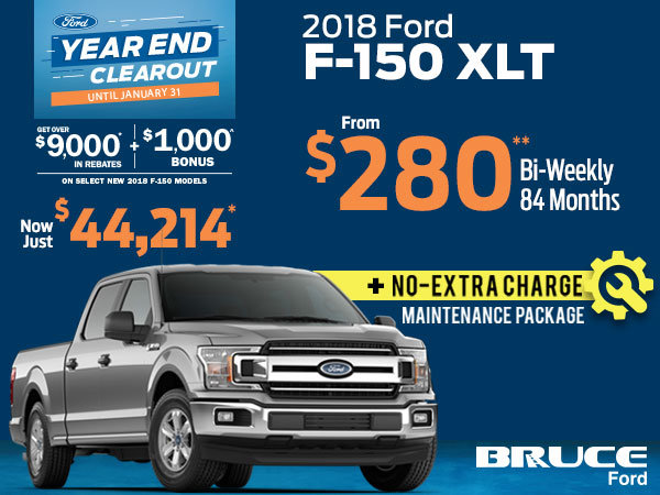 Over $9,000 in Rebates + FREE Maintenance Package with Remaining 2018 F-150s