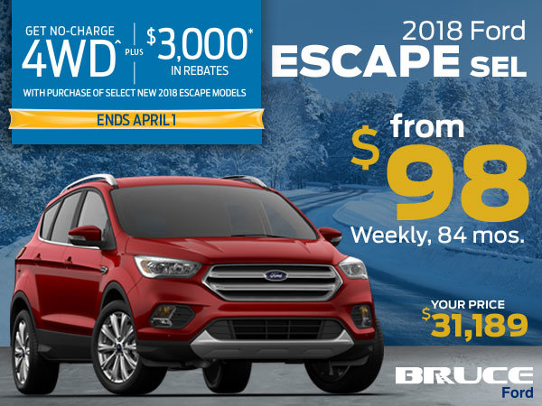 No Charge 4WD on the 2018 Escape