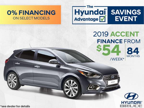 Finance the 2019 Hyundai Accent