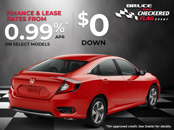 Honda Financing Rates >> Special Lease And Finance Rate Bruce Honda