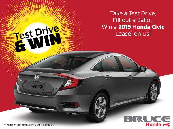 Test Drive and Win! | Bruce Honda