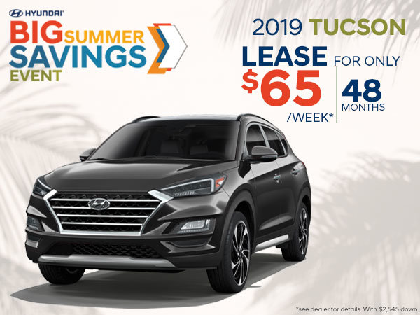 Lease the 2019 Tucson