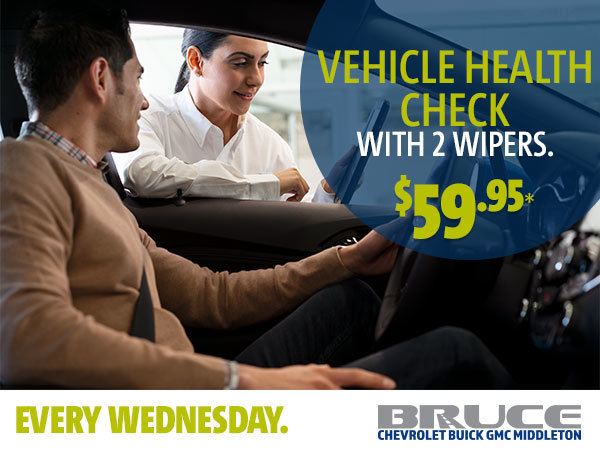 Every Wednesday: Vehicle Health Check with 2 Wipers for $59.95*