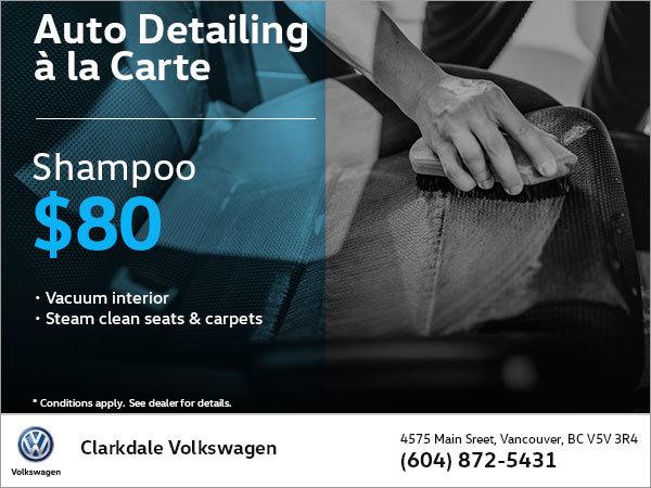 Shampoo Auto Detailing à la Carte