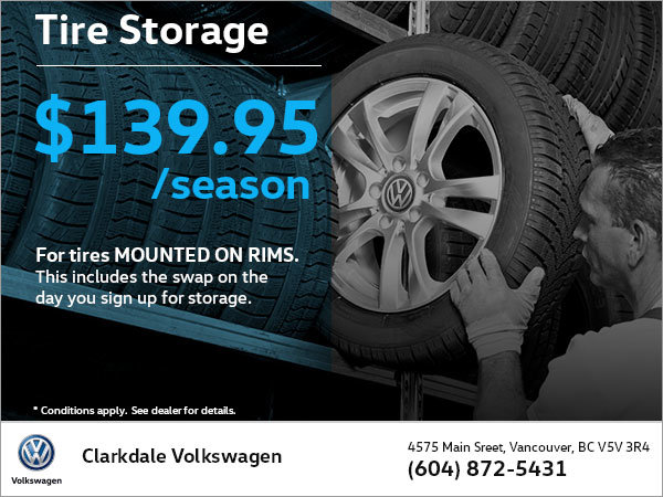 Mounted on Rims Tire Storage
