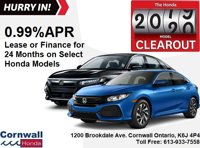 Get 0.99% On select Honda Models!