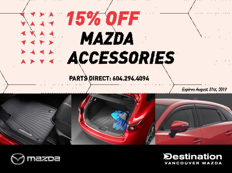 15% Off All Mazda Accessories