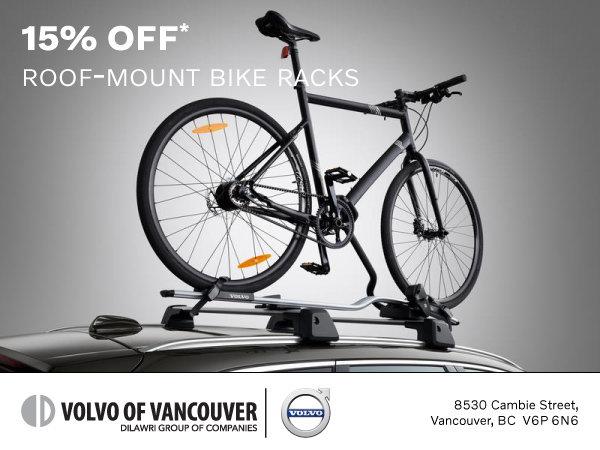 15% Off Roof-Mount Bike Racks in Vancouver   at Volvo of