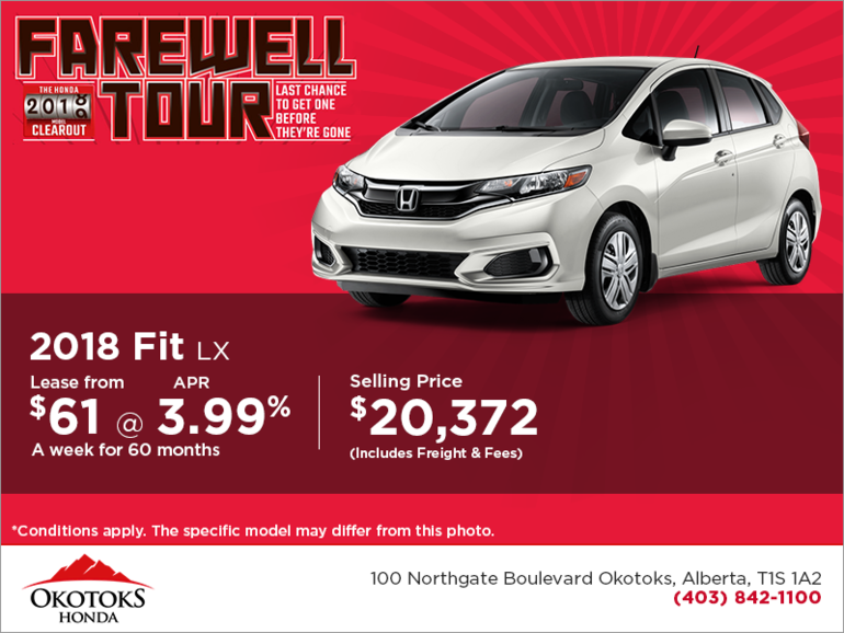 Get the 2018 Honda Fit Today!