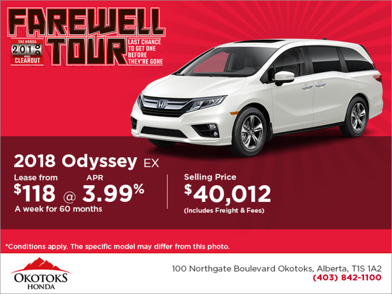 Get the 2018 Honda Odyssey Today!