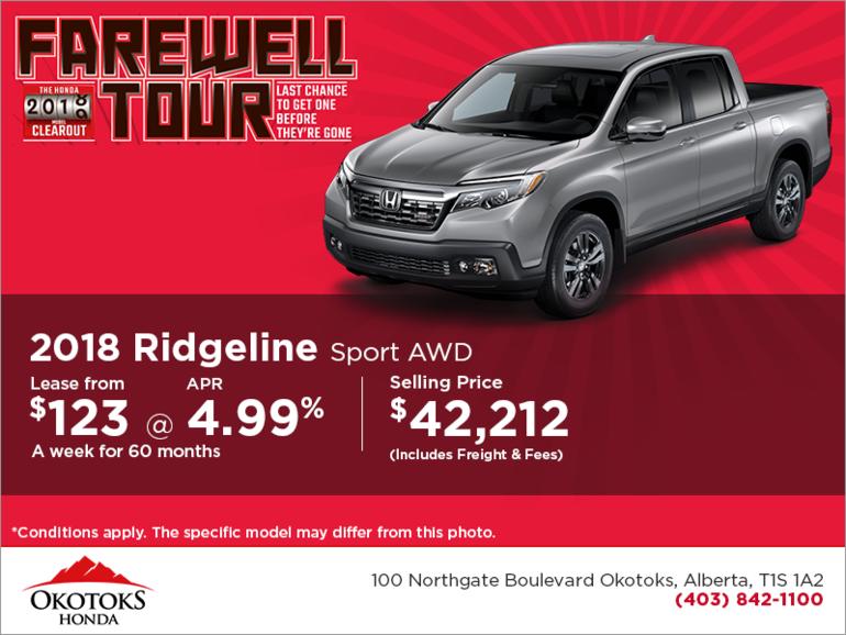 Get the 2018 Honda Ridgeline Today!