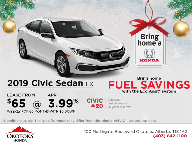 Get 2019 Honda Civic Sedan Today!