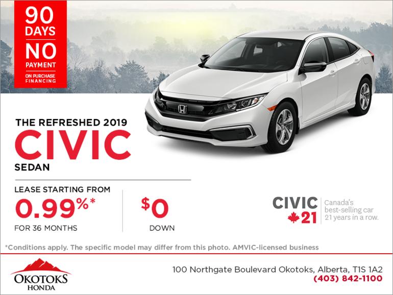 Get the 2019 Honda Civic Sedan Today!