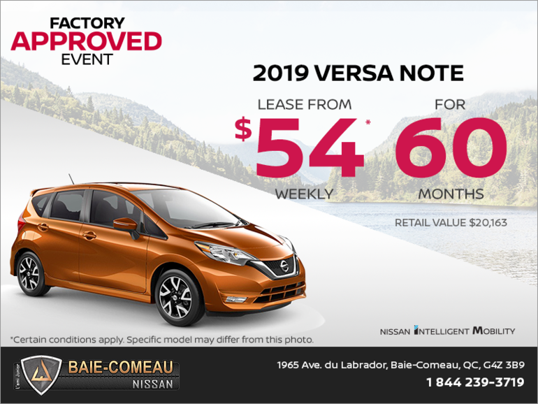 Get the 2019 Versa Note today!