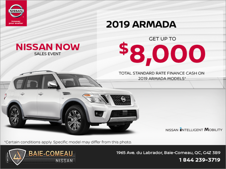 Get the 2019 Nissan Armada Today!