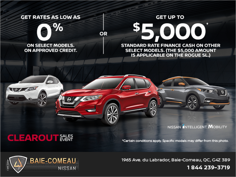 Nissan Clearout Sales Event!