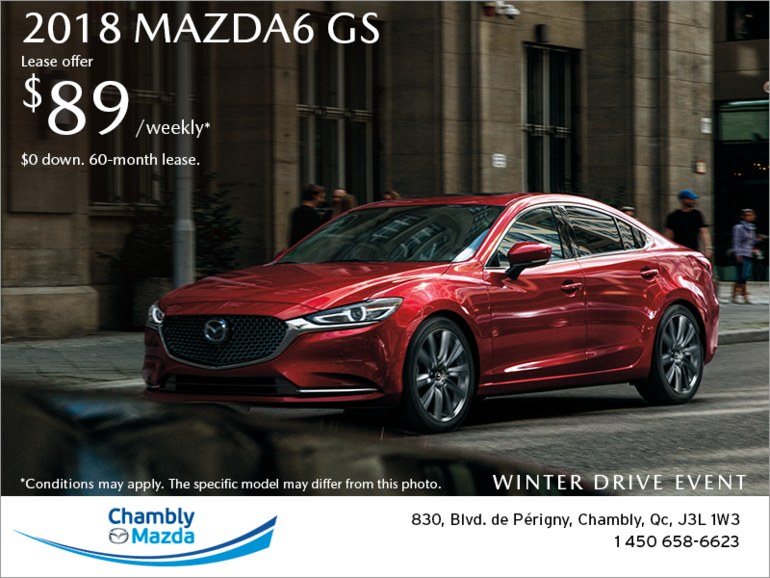 Get the 2018 Mazda6!