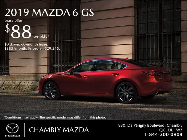Get the 2019 Mazda6!