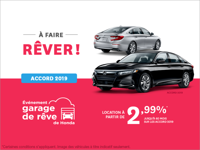 Louez la Honda Accord Berline 2019!