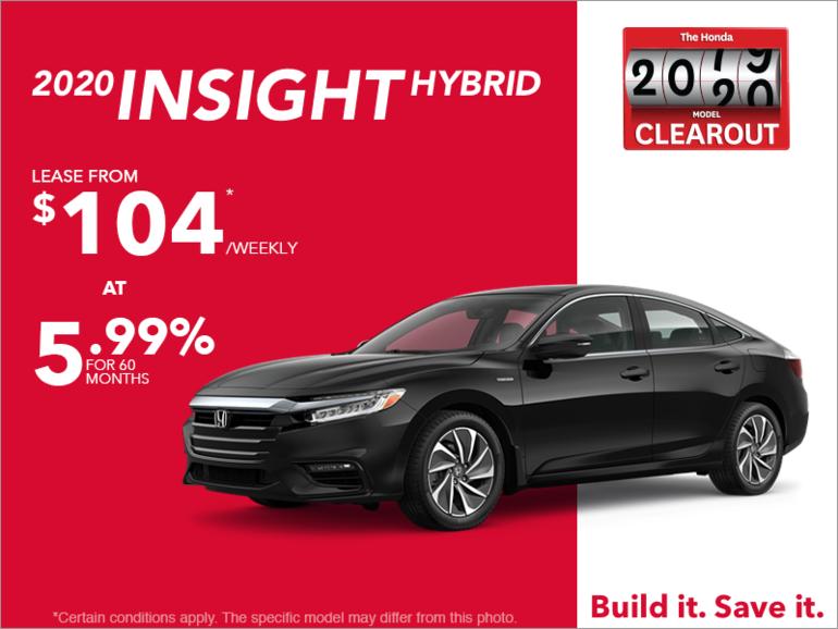 Lease the 2020 Honda Insight!