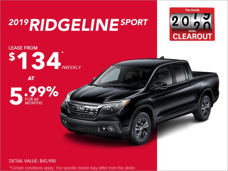 Honda Ridgeline Lease >> Lease The 2019 Honda Ridgeline At Excel Honda Quebec