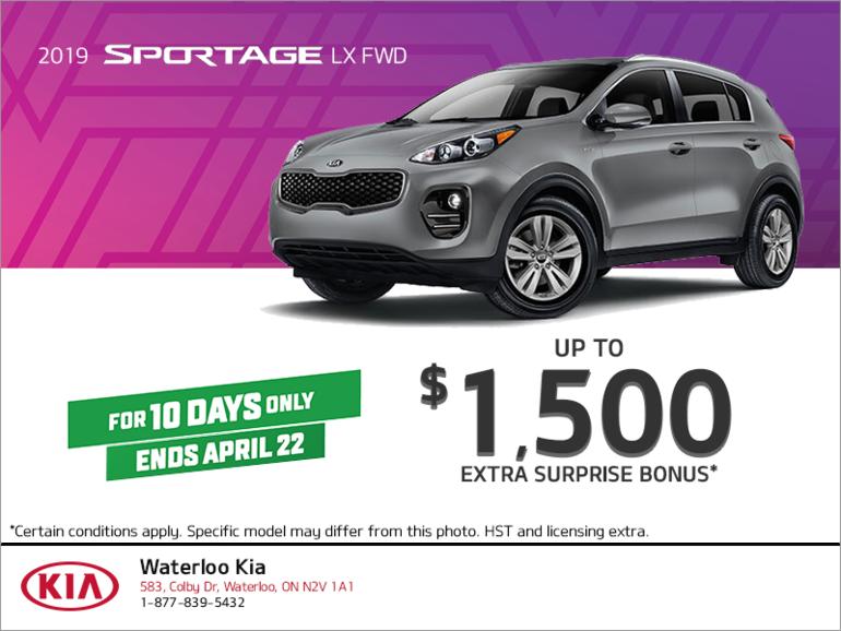 Get the 2019 Kia Sportage