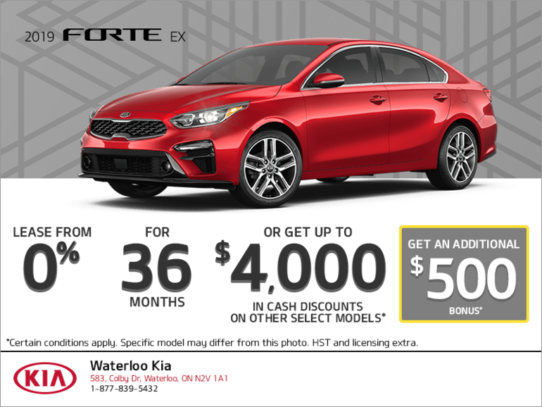Lease the 2019 Kia Forte!
