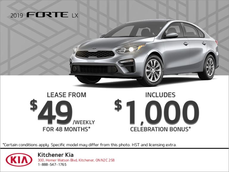 Get the 2019 Kia Forte!