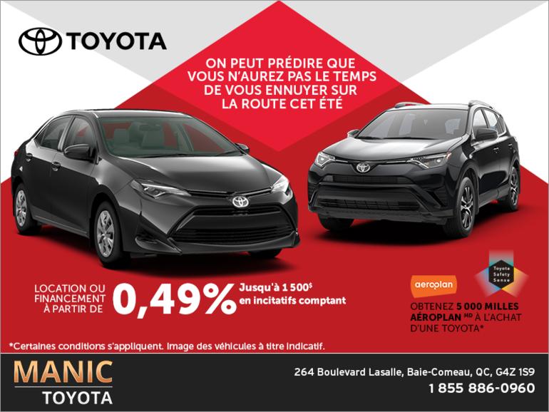 L'événement du fabricant de Toyota!