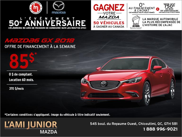 Louez la Mazda6 2018!