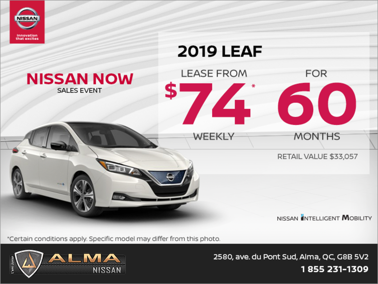 Nissan Leaf Lease >> Get The 2019 Nissan Leaf Today At Alma Nissan