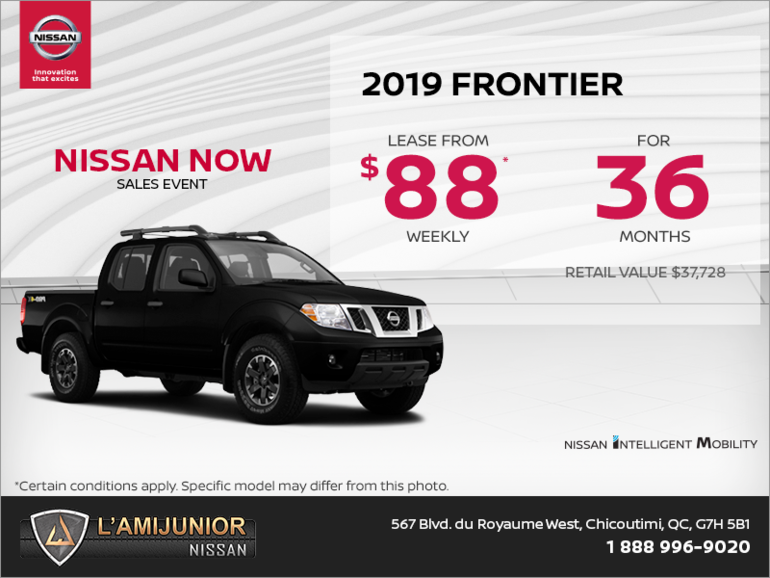 Get the 2019 Nissan Frontier Today!
