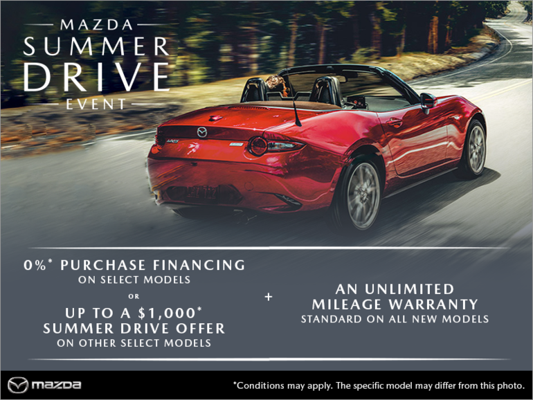 The Mazda Summer Drive Event