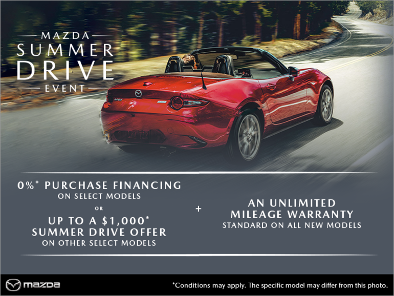It's the Mazda Summer Drive Event!