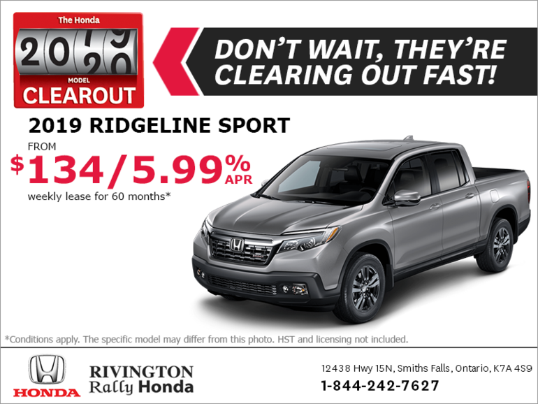 Honda Ridgeline Lease >> Lease The 2019 Honda Ridgeline Rivington Rally Honda