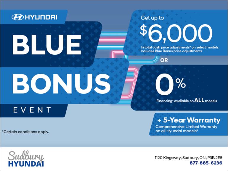 Blue bonus event!