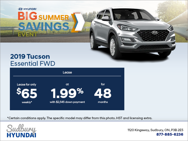 Lease the 2019 Tucson today!