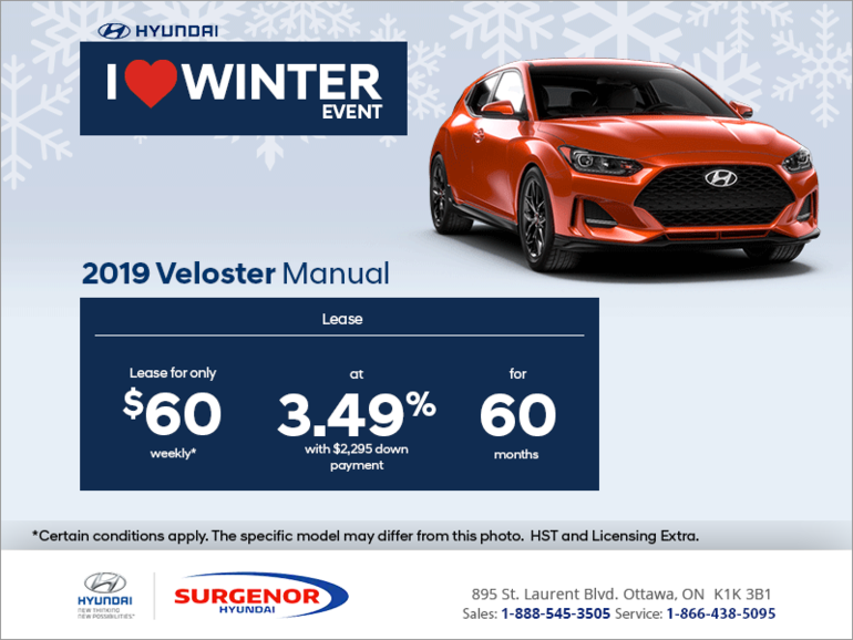 Lease the 2019 Veloster!