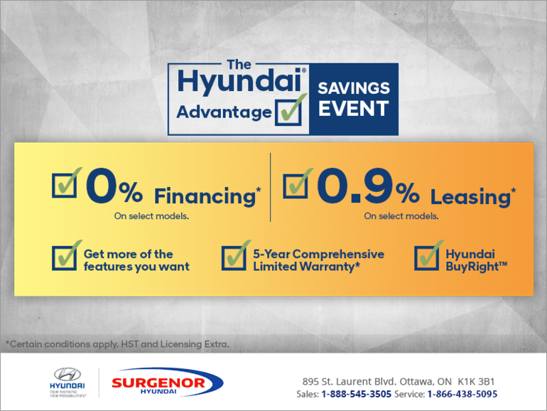 The Hyundai advantage saving Event!