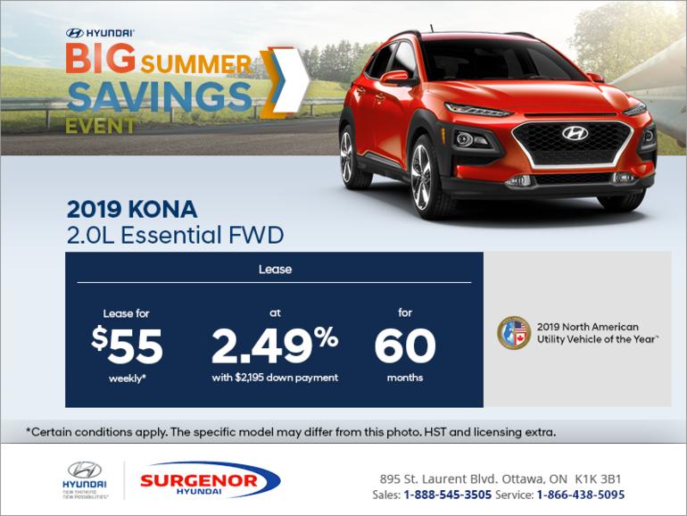Lease the 2019 Kona!